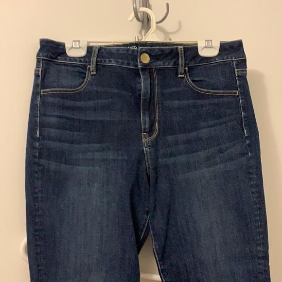 American eagle navy skinny jeans